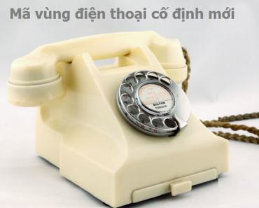 mã vùng điện thoại cố định mới