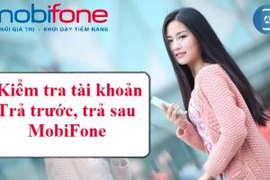 Kiểm tra tài khoản mobifone